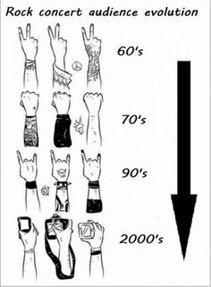 This one isn't ours, but it's true nonetheless - Evolution of rock music