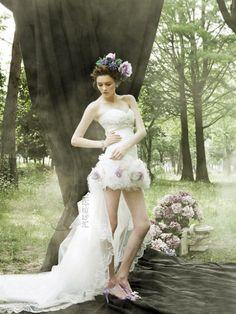 dearte korean wedding dress -- Romantic Wedding Dresses by Dearte Bridal Outfits, Bridal Dresses, Wedding Gowns, Wedding Shoot, Chic Wedding, Wedding Trends, Wedding Blog, Lace Wedding, Wedding Ideas