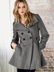Wool Double-breasted Tab Coat