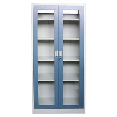 Factory Prices Hot Sale Glass Door Metal Cupboard Knock down structure and easy assemble that can be finished in minutes. Steel Cupboard, Consistency, Glass Door, Locker Storage, It Is Finished, Metal, Hot, Easy, Steel Wardrobe