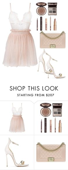 """Untitled #475"" by alexandraspring98 ❤ liked on Polyvore featuring Alexander McQueen, Charlotte Tilbury, Casadei and Chanel"