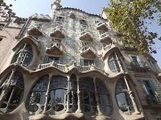 Casa Battlo - a Gaudi designed building in Barcelona