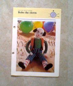 "Knit Bobo The Clown 16 7/8"" Tall Pattern"