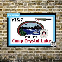 Friday the 13th - Camp Crystal Lake Cross Stitch Sampler Pattern/PDF INSTANT DOWNLOAD