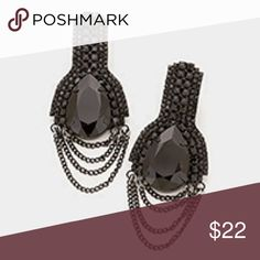 Gorgeous formal earrings NWT Brand new never used these gorgeous earrings are perfect to wear at a formal event. All Crystal stones, draped chains. Formal wear Jewelry Earrings