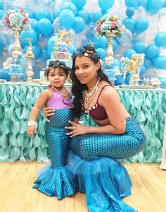 My Little Angel Decorations 's Birthday / Mermaids - Photo Gallery at Catch My Party Mermaid Theme Birthday, First Birthday Party Themes, Little Mermaid Birthday, Little Mermaid Parties, Birthday Party Decorations, Birthday Parties, Mermaid Table Decorations, Little Girl Costumes, Mermaid Pool