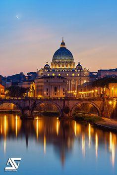 Vatican & Ponte Sant'Angelo, Rome, Italie (HDR / DRI)