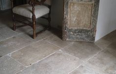 Reclaimed Limestone Floors - How to Create a Fabulous French Kitchen - via Enchanted Home