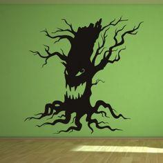 Scary Halloween Tree Wall Art Sticker Wall Decals - Halloween - Seasonal