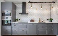Ideas industrial kitchen design ikea for 2019 Industrial Kitchen Design, Rustic Kitchen, Kitchen Decor, Industrial Kitchens, Industrial Lamps, Industrial Furniture, Vintage Industrial, Design Ikea, Küchen Design