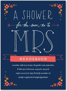 Ladies... this is the cutest bridal shower invite ever. Just saying. Please take note. :)