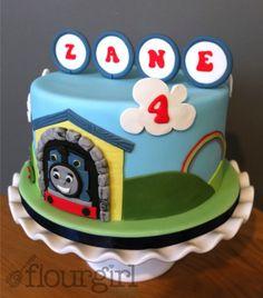 Thomas Birthday Cake. Train Birthday Cake. Thomas the Tank Engine Cake.