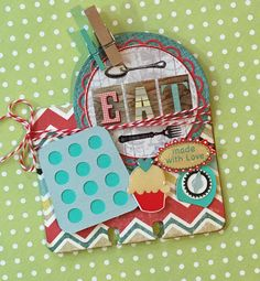 EAT Memorydex Rolodex Card by Jackie Benedict