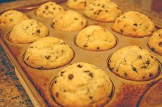 Chocolate Chip Muffins. Just popped these in the oven. We'll see.