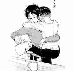 "•""Eren... *Jumps on Eren* I Missed You"" << ALDILGRNSL AWWWWW THATS ABSOLUTELY ADORABLE HOLY CRAP"