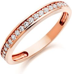1d471eee1ff3 Rose Gold Cubic Zirconia Ring - From Beaverbrooks the Jewellers Swarovski  Crystal Rings