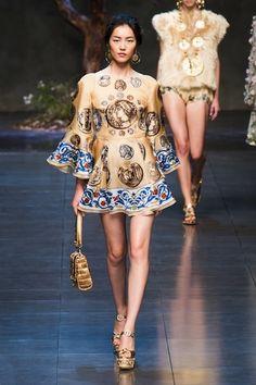 Dolce and Gabbana Spring 2014 -- Milan Fashion Week runway show