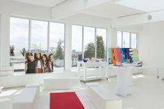 Vorbereitung zur Modenschau: Eine tolle Location, man hat einen tollen Ausblick auf München!