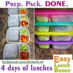 Here's how to prep and pack ahead! Made easy with #easylunchboxes