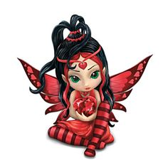 "Jasmine Becket-Griffith Heart Health ""Love"" Fairy Figurine"