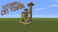 Minecraft - How to build a Cat Tower - Tutorial