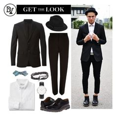 """Classic Black"" by dappervigilante ❤ liked on Polyvore featuring River Island, Givenchy, RED Valentino, Paul Smith and Daniel Wellington"