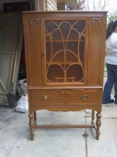 Vintage Hutch with Glass Door $175 00 Central Westmoreland