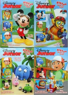 Disney Junior Big Fun Book To Color Mickey Mouse Friends Coloring Set