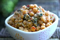 This savory chickpea dish is loaded with nutrition and flavor and easy to prepare.