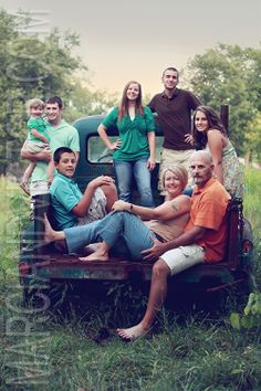 Awesome family picture idea in old truck
