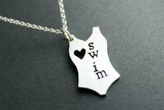I love swim necklace by AbellaBlue on Etsy