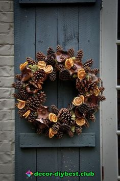 Gardening Autumn - Kym Porknoy recommends James Farmer's Wreaths for all Seasons in her Top 10 for the garden - With the arrival of rains and falling temperatures autumn is a perfect opportunity to make new plantations Xmas Wreaths, Autumn Wreaths, Door Wreaths, Fall Crafts, Diy And Crafts, Christmas Crafts, Christmas Decorations, Christmas Garden, Christmas Door