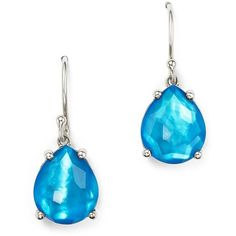 Ippolita Sterling Silver Wonderland Pear Drop Earrings in Ice ($295) ❤ liked on Polyvore featuring jewelry, earrings, ippolita earrings, drop earrings, teardrop earrings, clear jewelry and ippolita