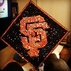 My San Francisco Giants graduation cap!! Class 2013!