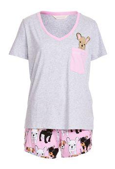 Image for Pocket Puppy Shortie Pj Set from Peter Alexander - Lingerie, Sleepwear & Loungewear - amzn.to/2ieOApL Lingerie, Sleepwear & Loungewear - http://amzn.to/2ij6tqw