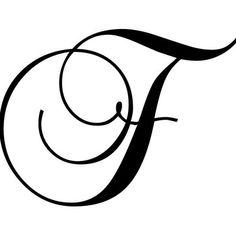 Enchantingly Elegant Letter F Wall Decal Size: 22 H x 30 W x 1 D Cursive Alphabet, Cursive Fonts, Cursive Tattoos, Tattoo Fonts, Fancy Letters, Monogram Letters, Lettering Styles, Hand Lettering, Creative Lettering