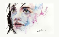 just one in a thousand by agnes cecile - Watercolor Paintings by Silvia Pelissero