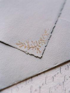 Wedding invitation envelope details.