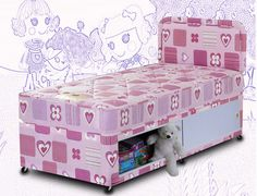Sweet Dreams Hearts 2ft 6 Small Single Bed Divan Set