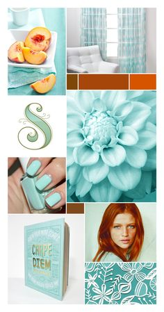 aqua and rust palette from afinelineblog.com