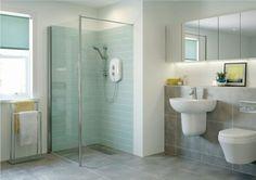 moderne Duschkabine gemauerte Dusche