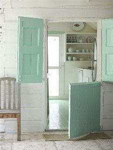 Dutch door - wonder if this would work for my basement!