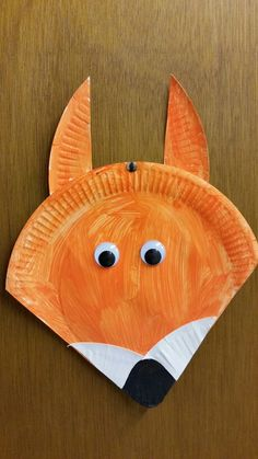 Fox paper plate art and craft