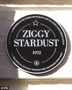 Mr Bowie finally got his plaque on  Heddon Street London...