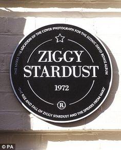 Mr Bowie finally got his plaque on  Heddon Street London...