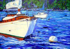 NEW 2015 Original Oil Painting Monday Mooring  by artist Christi Dreese. www.dreesefineart.com www.c2cgallery.com