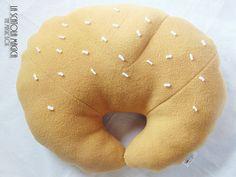 Food pillow - Decorative Croissant pillow - Polyester fleece - handmade - housewares by La Scatola Magica