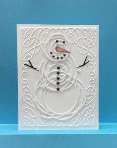 Swirly thinlets by jandjccc - Cards and Paper Crafts at Splitcoaststampers Homemade Christmas Cards, Christmas Cards To Make, Xmas Cards, Homemade Cards, Holiday Cards, Christmas Eve, Diy With Kids, Scrapbook Cards, Scrapbooking