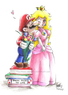 Mario and Peach...+o+ by *Da-Phase-Meister on deviantART