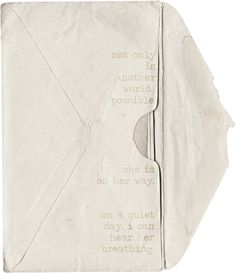 arundhati roy words written on an old envelope | honeypieLIVINGetc